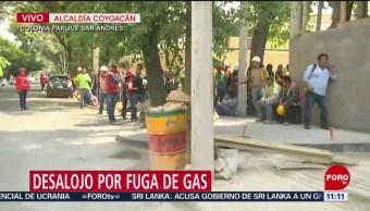 Desalojan edificio por fuga de gas en la alcaldía Coyoacán, CDMX