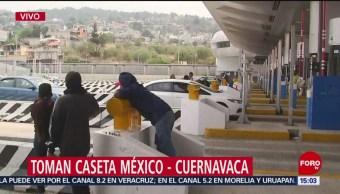 FOTO: toman la caseta México-Cuernavaca