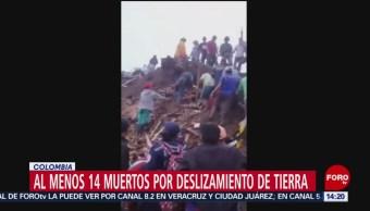 FOTO: Deslave deja 14 muertos en Cauca, Colombia, 21 ABRIL 2019