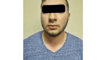"""Foto: Uno de los detenidos por estos hechos fue Luis Alberto """"N"""", de 22 años, el 28 de abril de 2019 (Fiscalía de Sonora)"""
