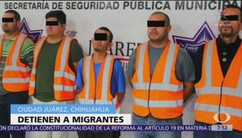 Detienen a migrantes con armas y droga en Ciudad Juárez