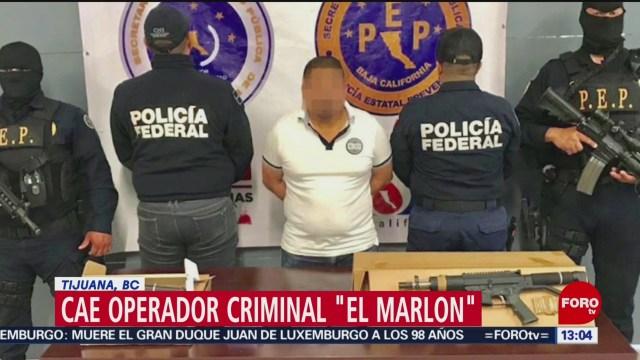 Foto: Detienen a operador criminal 'El Marlon', en Tijuana, BC