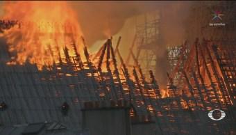 Foto: Incendio Destruye Torre Principal Notre Dame 15 de Abril 2019