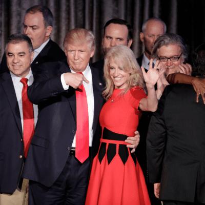 Trump, su asesora y el esposo de ésta, el 'triángulo diabólico'