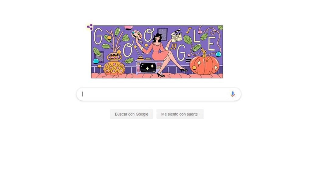 Foto: Google dedica Doodle a la actriz mexicana Evangelina Elizondo, 28 abril 2019