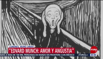 Foto: Edvard Munch Amor Angustia Museo Británico Londres 9 Abril 2019