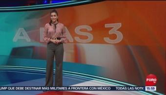 Foto: El Clima 'A las Tres' con Daniela Álvarez del 10 de abril de 2019