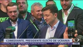 El comediante Volodymyr Zelensky es presidente electo de Ucrania