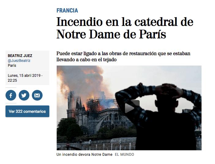 El diario español 'El Mundo' compartió uno de los videos más impresionantes del evento (El Mundo.es)
