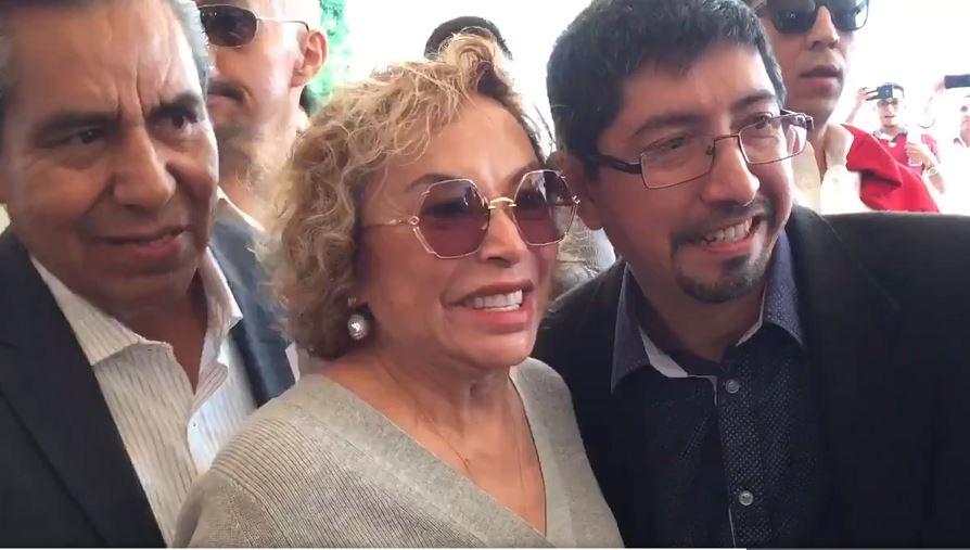 """Foto: Elba Esther Gordillo lamenta que la llamada """"Cuarta Transformación"""" no impulse el verdadero cambio que los maestros de México necesitan, el 7 de abril de 2019 (Twitter @RuidoEnLaRed)"""