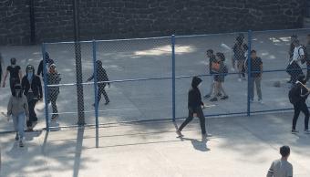 Foto: Encapuchados toman a prepa 6, 2 de abril de 2019. Ciudad de México