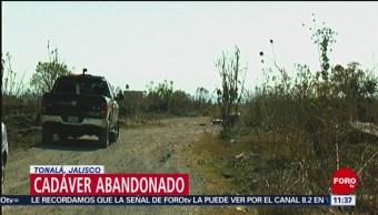 Encuentran cadáver de hombre en lote baldío en Tonalá, Jalisco