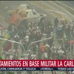 Enfrentamientos en base militar La Carlota, en Venezuela