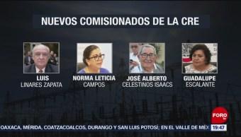 Foto: Nuevos Comisionados CRE AMLO 4 de Abril 2019