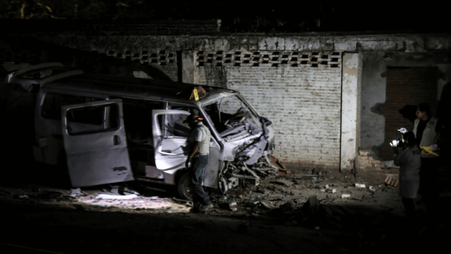 Foto: Explota artefacto en vehículo en Xaltianguis, Guerrero, 3 de abril de 2019, México