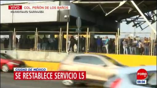 Falla eléctrica afecta servicio en Línea 5 del Metro CDMX