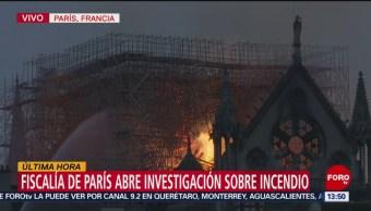 Foto: Fiscalía abre una investigación sobre incendio de Notre Dame