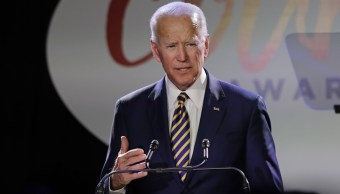Foto: El exvicepresidente de Estados Unidos, Joe Bide, habla durante una entrega de premios en Nueva York. El 26 de marzo de 2019
