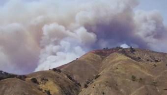 Foto: Un incendio forestal en el estado de Guerrero.