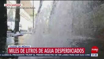 Foto: Fuga de agua potable en San Pedro de los Pinos