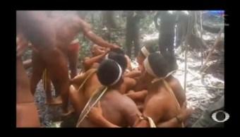 Foto: Fundación Localiza Tribu Aislada Amazonas Vacunarlos 11 de Abril 2019