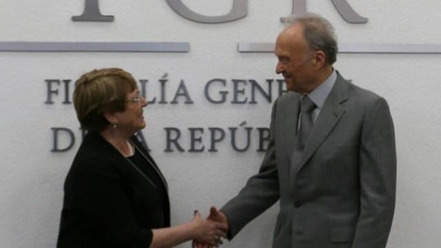 Gertz Manero se reúne con Bachelet; acuerdan trabajar conjuntamente en caso Iguala