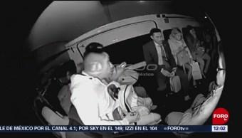 Graban asalto en transporte público en el Estado de México