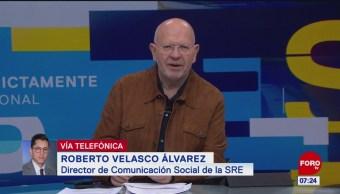 Hay comunicación muy fluida entre Presidencia y cancillería: Robert Velasco