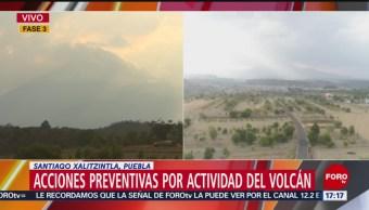 Foto: Hay incertidumbre en poblados aledaños al Popocatépetl