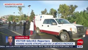 FOTO: Hombre muere atropellado en la México-Pachuca, 13 de abril 2019