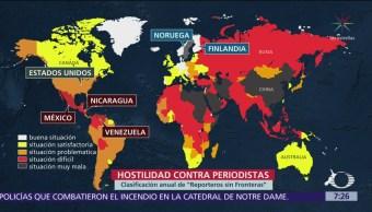 FOTO: Hostilidad contra periodistas en el mundo, 19 ABRIL 2019