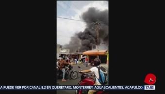 Foto: Incendio en carpintería en Iztapalapa