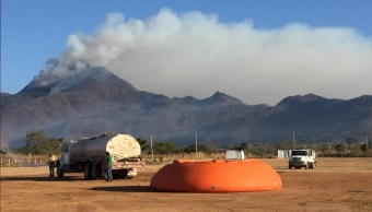 Foto: Incendio en Cerro Nambiyugua, municipio de Villaflores, Chiapas, 16 de abril 2019. Twitter @CONAFOR