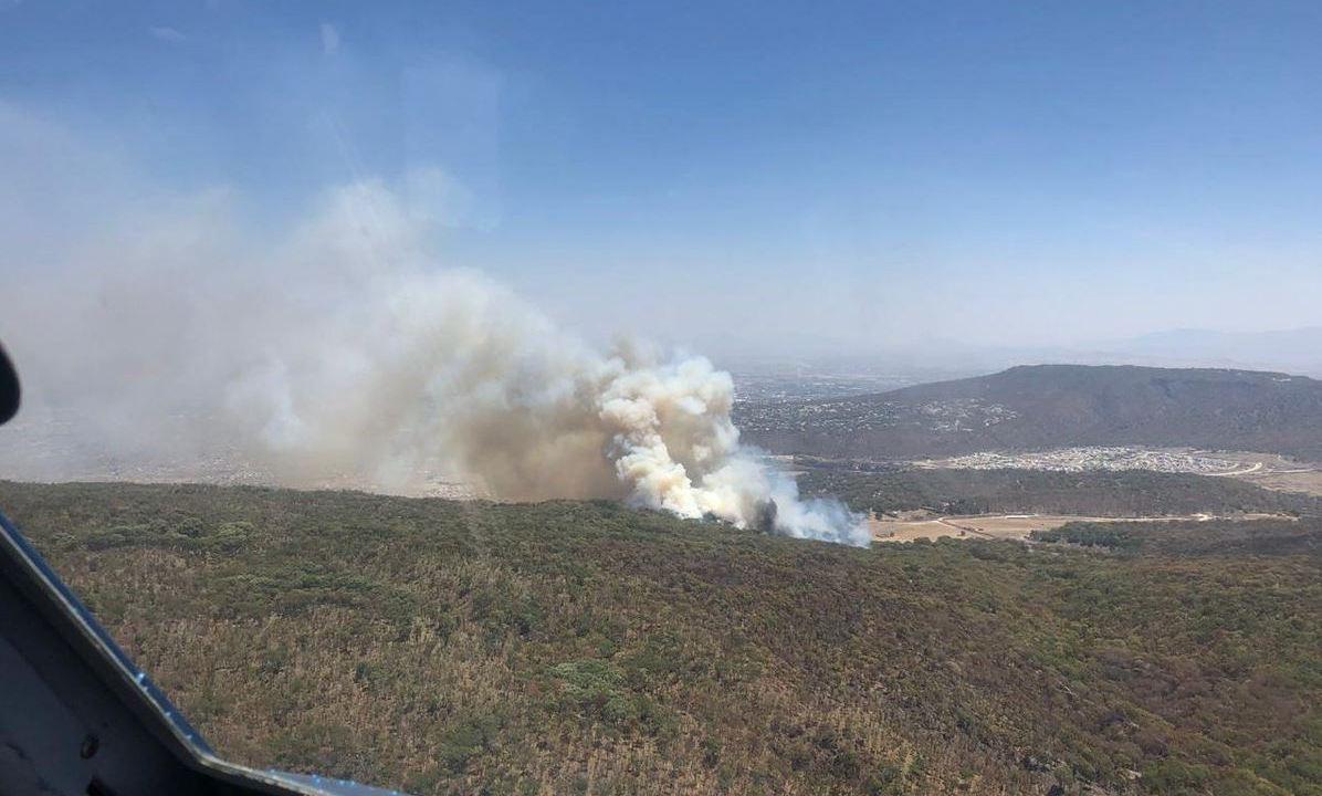 Foto: Es el tercer incendio en el bosque en lo que va de esta semana, el 13 de abril de 2019 (Twitter @CONAFOR)