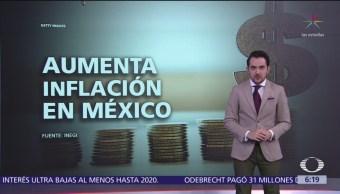 Inflación en México subió a 4.38%