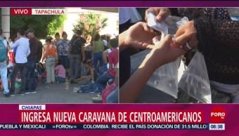 FOTO: Ingresa nueva caravana de migrantes centroamericanos a Chiapas, 13 de abril 2019