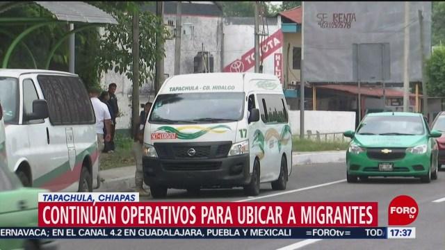 Foto: INM hace operativos para ubicar a migrantes