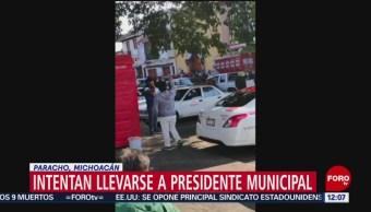 Intentan secuestrar a presidente municipal de Paracho, Michoacán