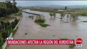 Inundaciones afectan región del Kurdistán, en Irak