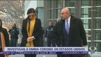 Investigan a Emma Coronel en EU por ayudar al Chapo a fugarse