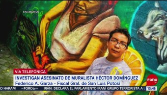 Foto: Investigan asesinato del muralista Héctor Domínguez en SLP