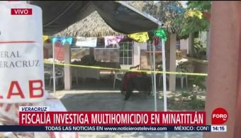 Foto: Investigan multihomicidio de Minatitlán como venganza