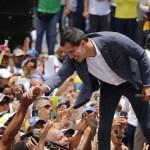 fOTO: Juan Guaidó, el autoproclamado presidente interino de Venezuela, durante un mitin en Caracas, 27 abril 2019