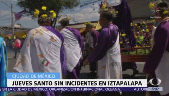 FOTO: Jueves Santo sin incidentes en Iztapalapa, 19 ABRIL 2019