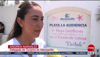 FOTO: La Audiencia en Manzanillo, primera playa certificada 'ecológicamente sustentable, 21 ABRIL 2019