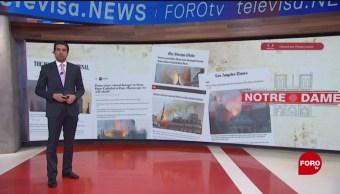 Foto: La tragedia de Notre Dame en portadas de la prensa europea