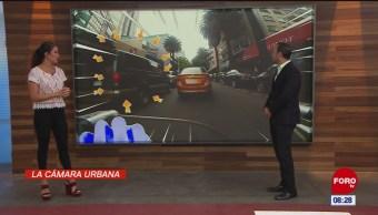 #LaCámaraUrbana en Expreso: Coches estacionados en doble fila