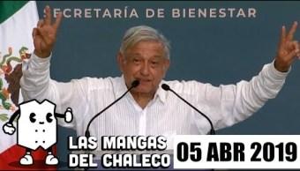 Foto: 5 Las Mangas del Chaleco Televisa de abrl 2019