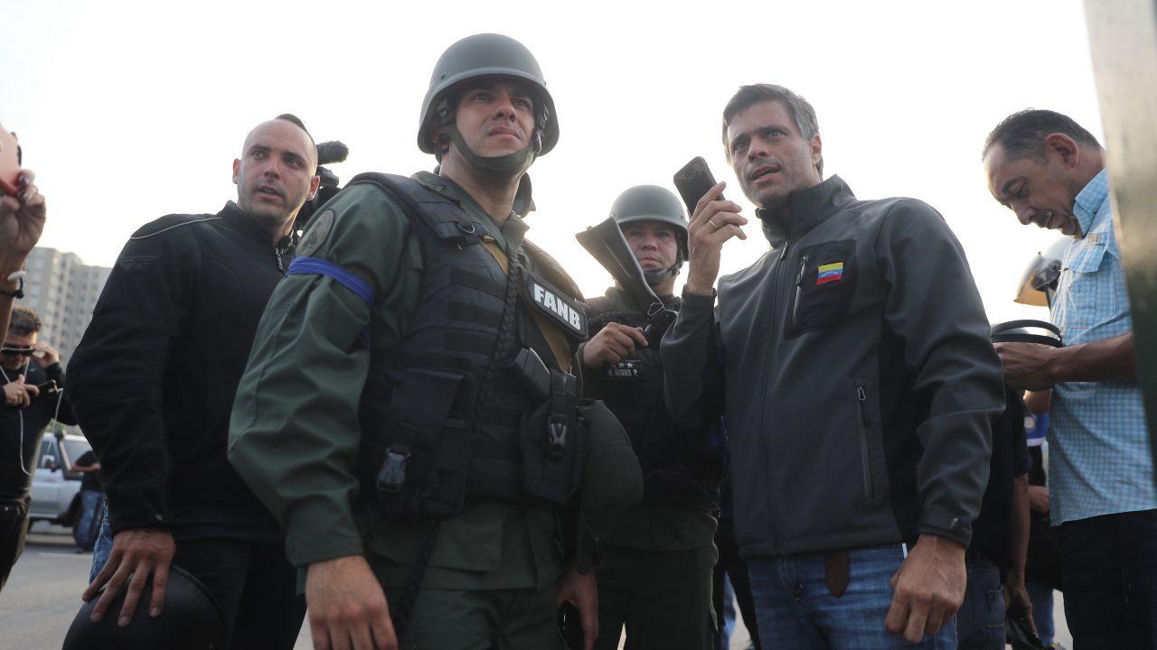 FOTO Leopoldo López dice que dialogan con funcionarios de Maduro (EFE 30 abril 2019)