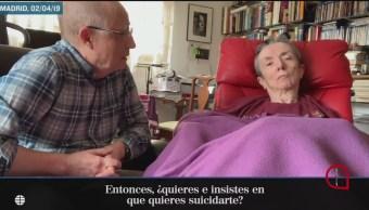 FOTO: Liberan a hombre que ayudó a morir a su esposa en España, 6 de abril 2019
